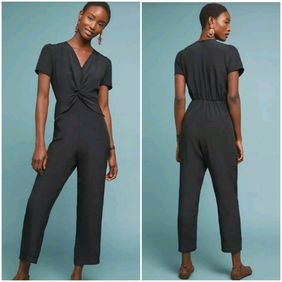 Anthropologie Amadi Front Knot Jumpsuit NWT